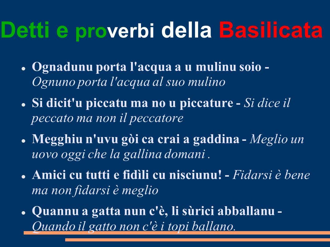 Detti e proverbi della Basilicata