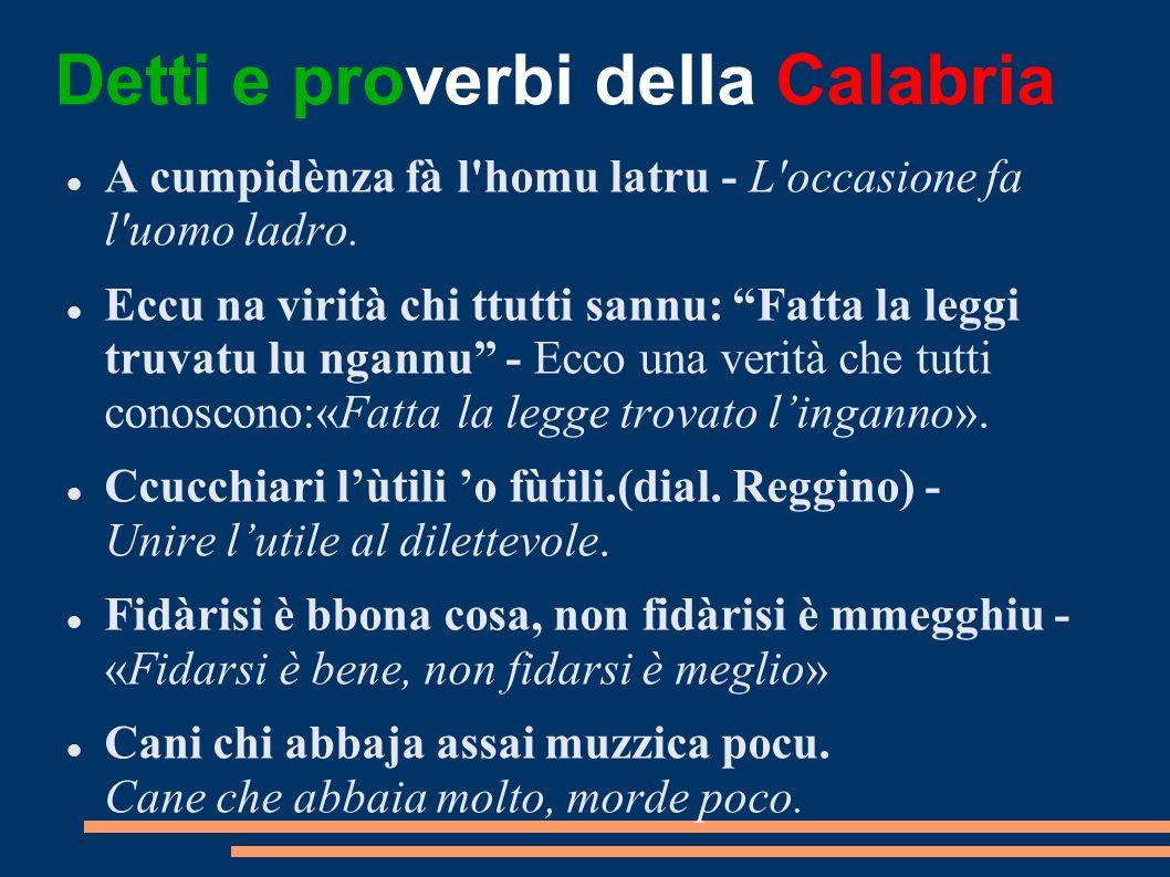 Detti e proverbi della Calabria