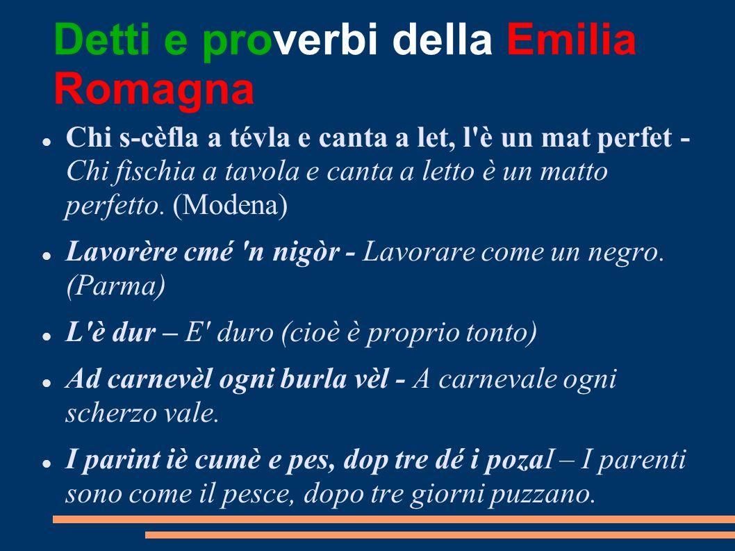 Detti e proverbi della Emilia Romagna