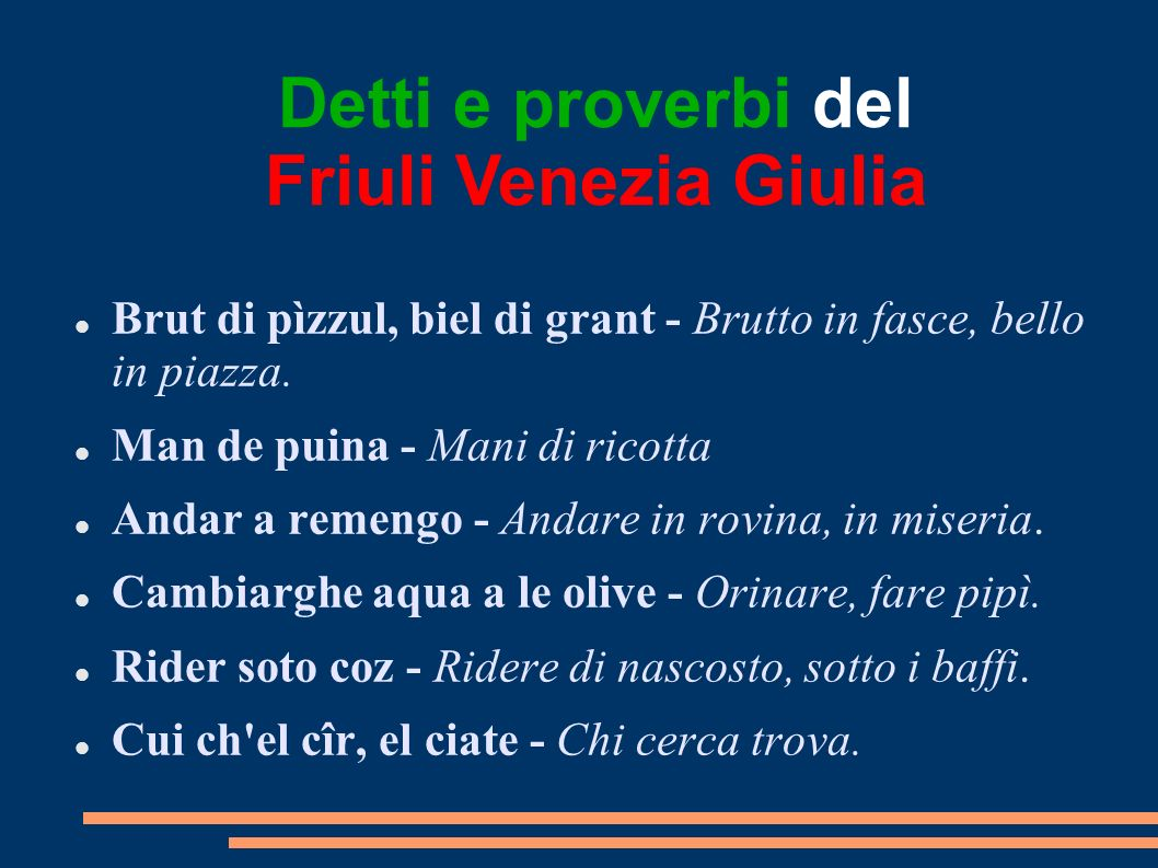 Detti e proverbi del Friuli Venezia Giulia