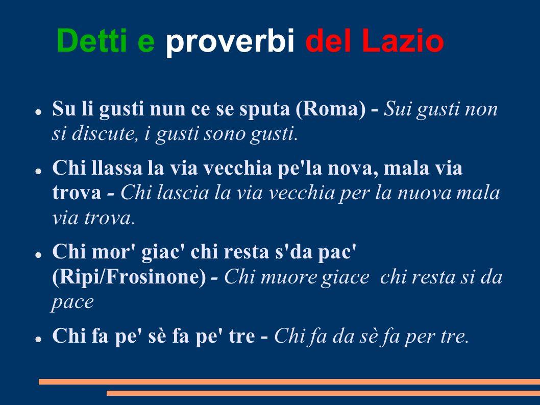 Detti e proverbi del Lazio