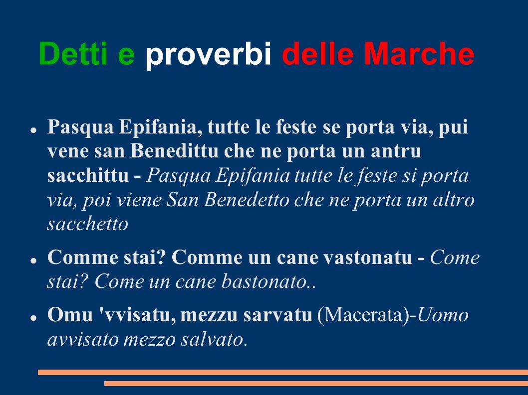 Detti e proverbi delle Marche