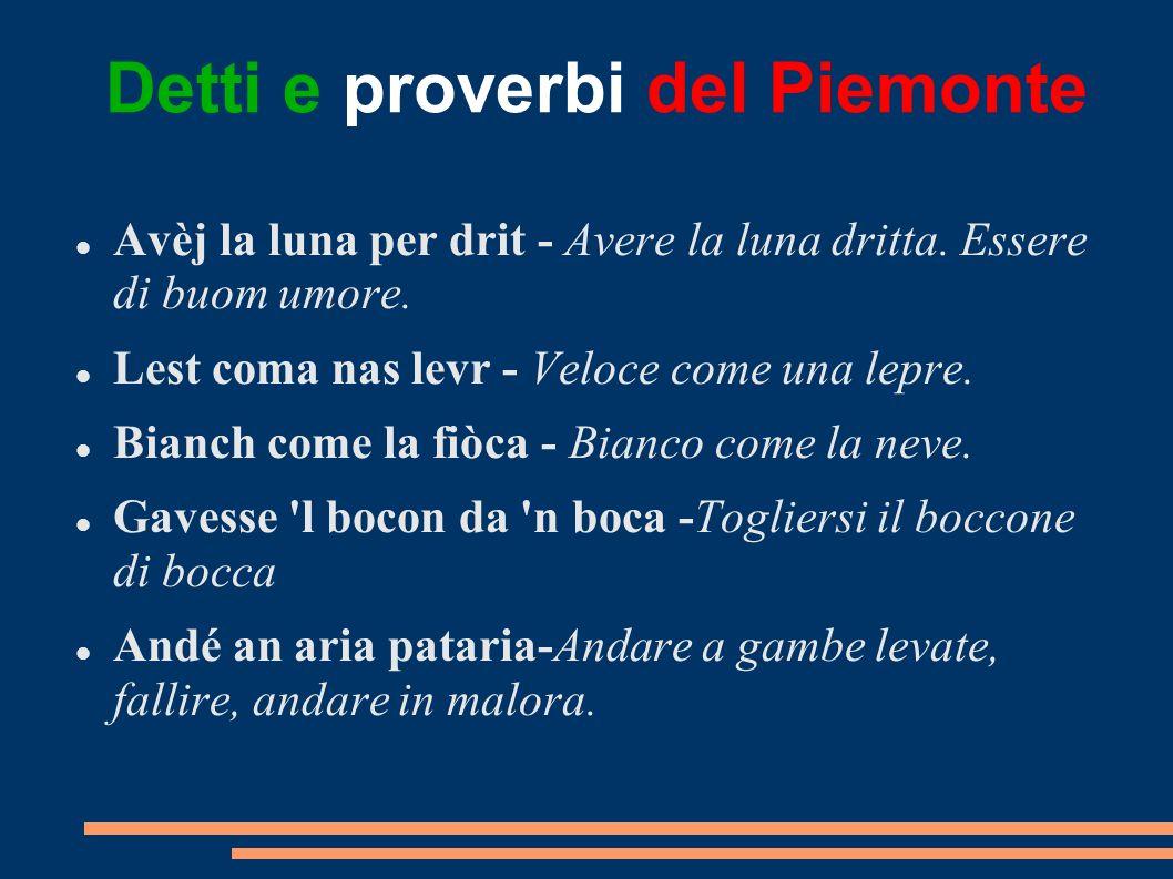 Detti e proverbi del Piemonte