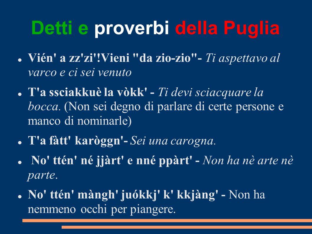 Detti e proverbi della Puglia