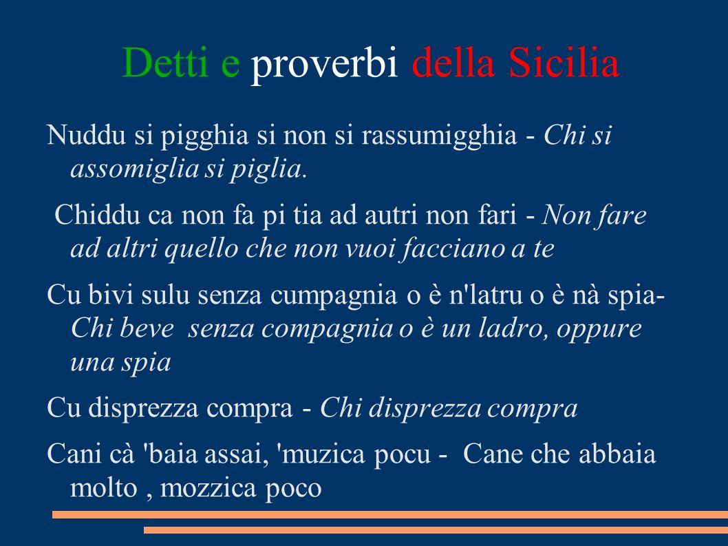 Detti e proverbi della Sicilia