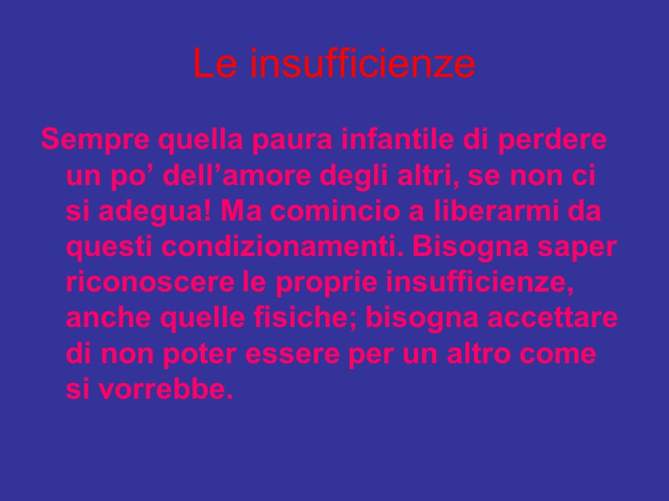 Le insufficienze