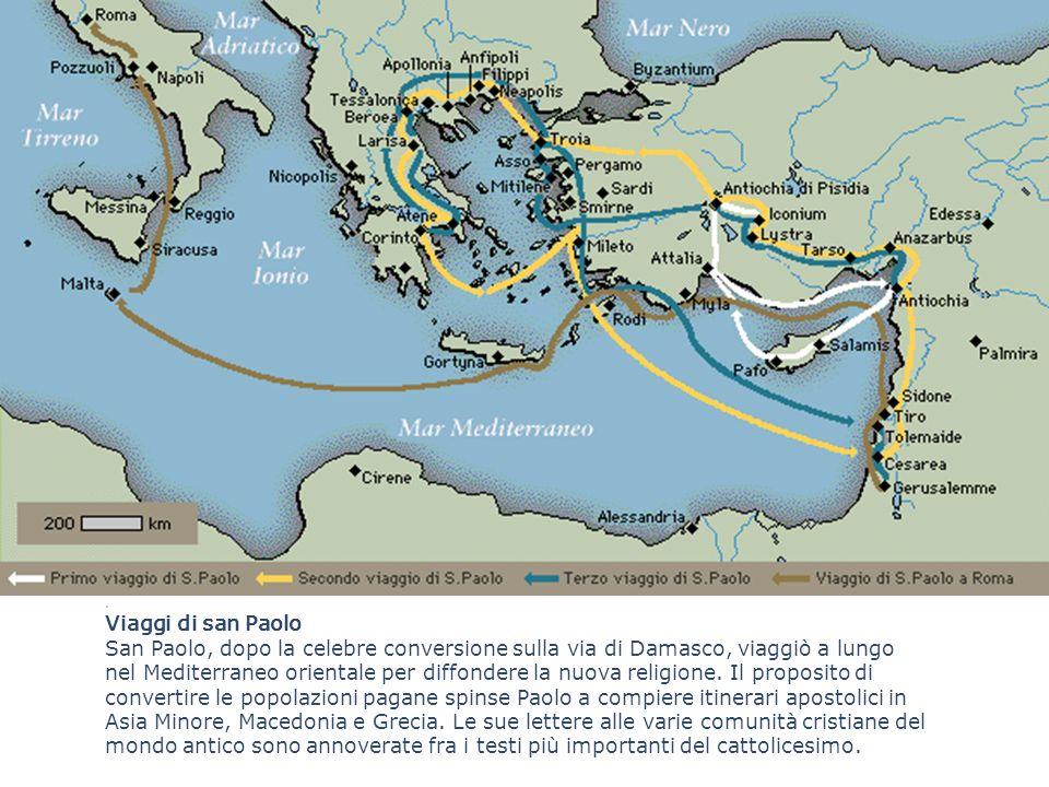 . Viaggi di san Paolo.