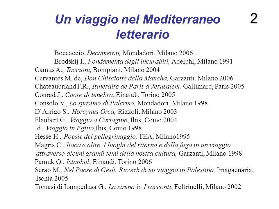 Un viaggio nel Mediterraneo letterario
