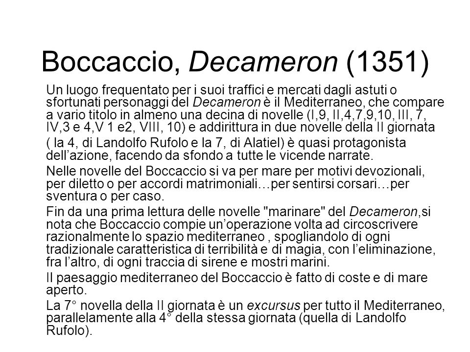 Boccaccio, Decameron (1351)