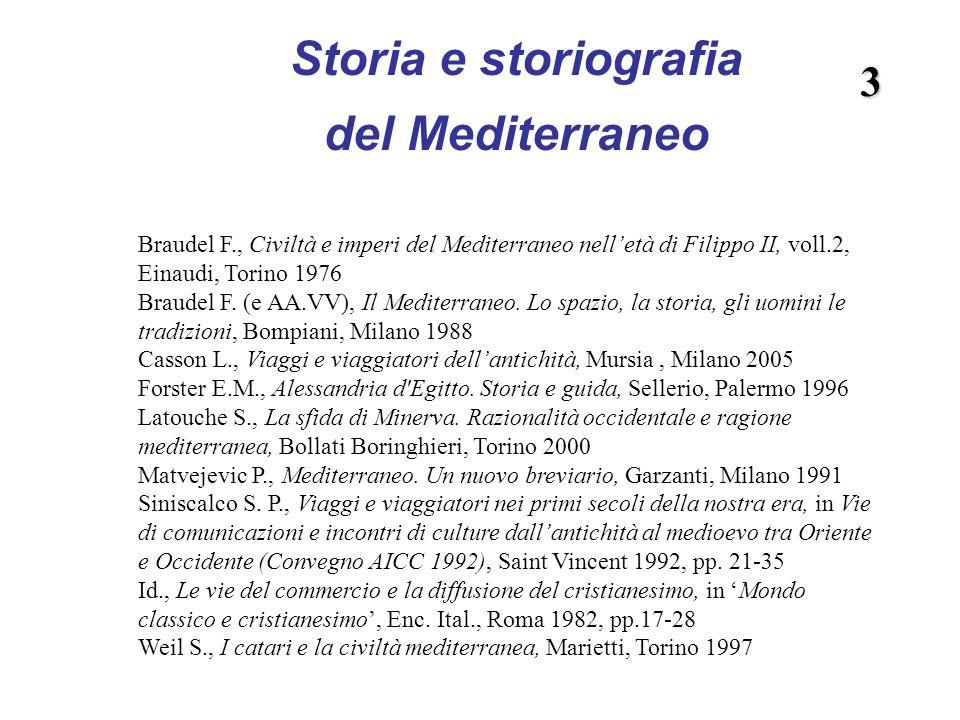 Storia e storiografia del Mediterraneo