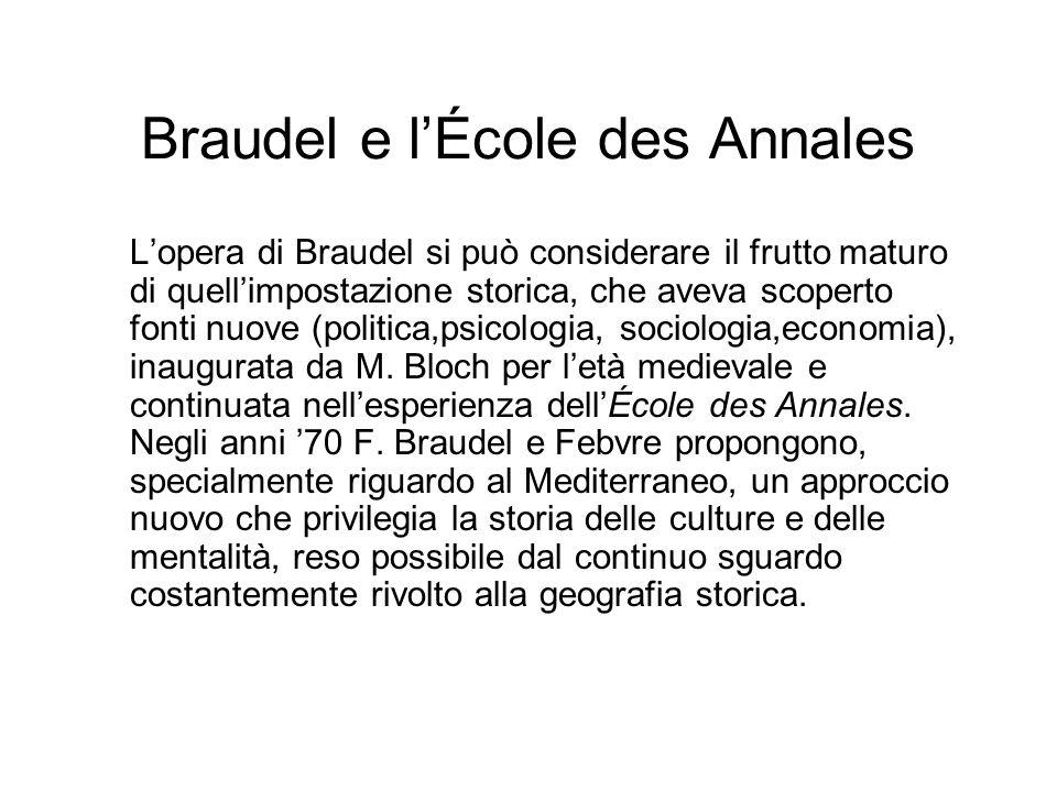 Braudel e l'École des Annales