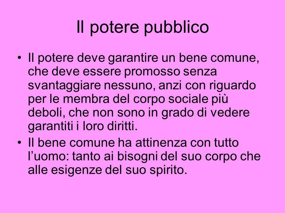 Il potere pubblico