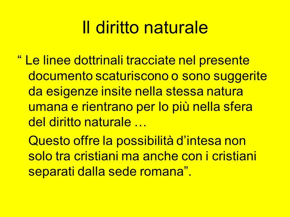 Il diritto naturale