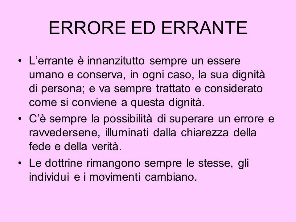 ERRORE ED ERRANTE