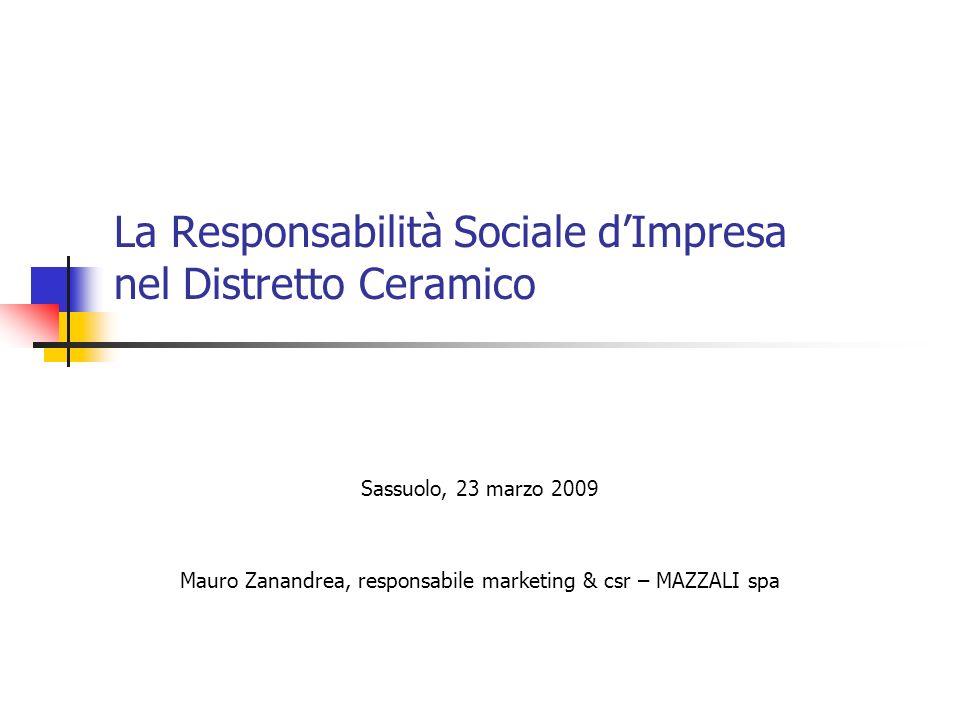 La Responsabilità Sociale d'Impresa nel Distretto Ceramico