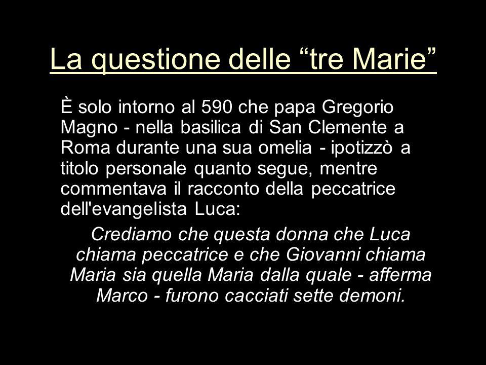 La questione delle tre Marie