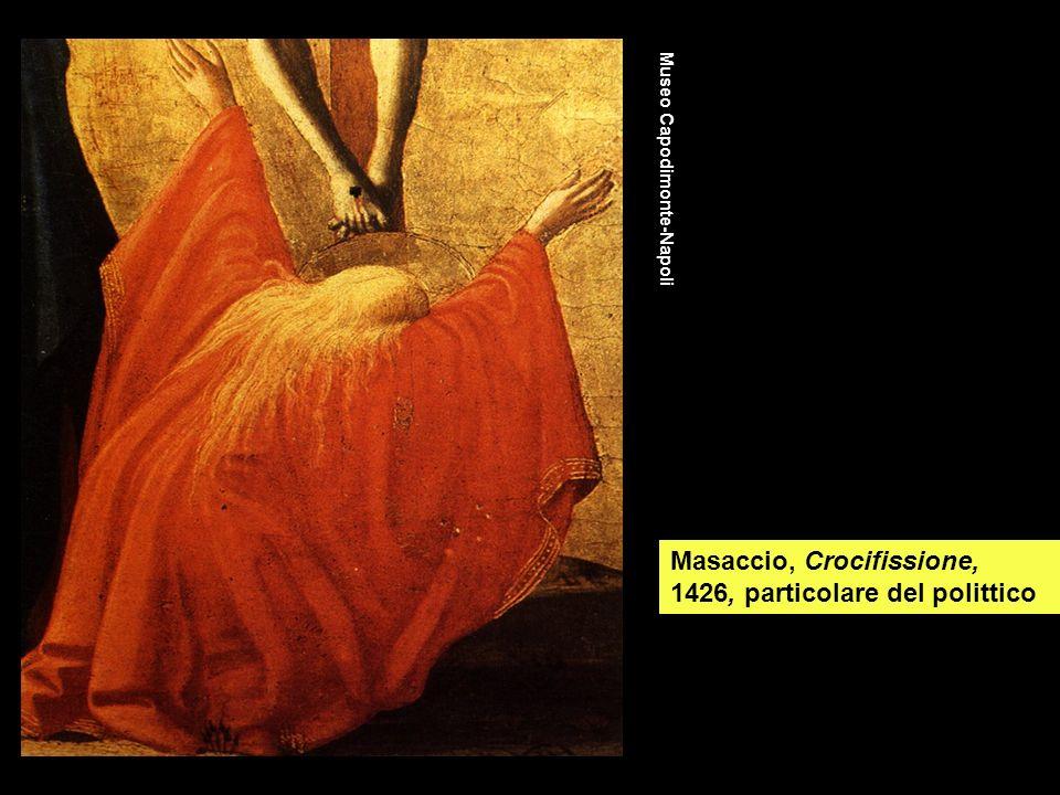 Masaccio, Crocifissione, 1426, particolare del polittico