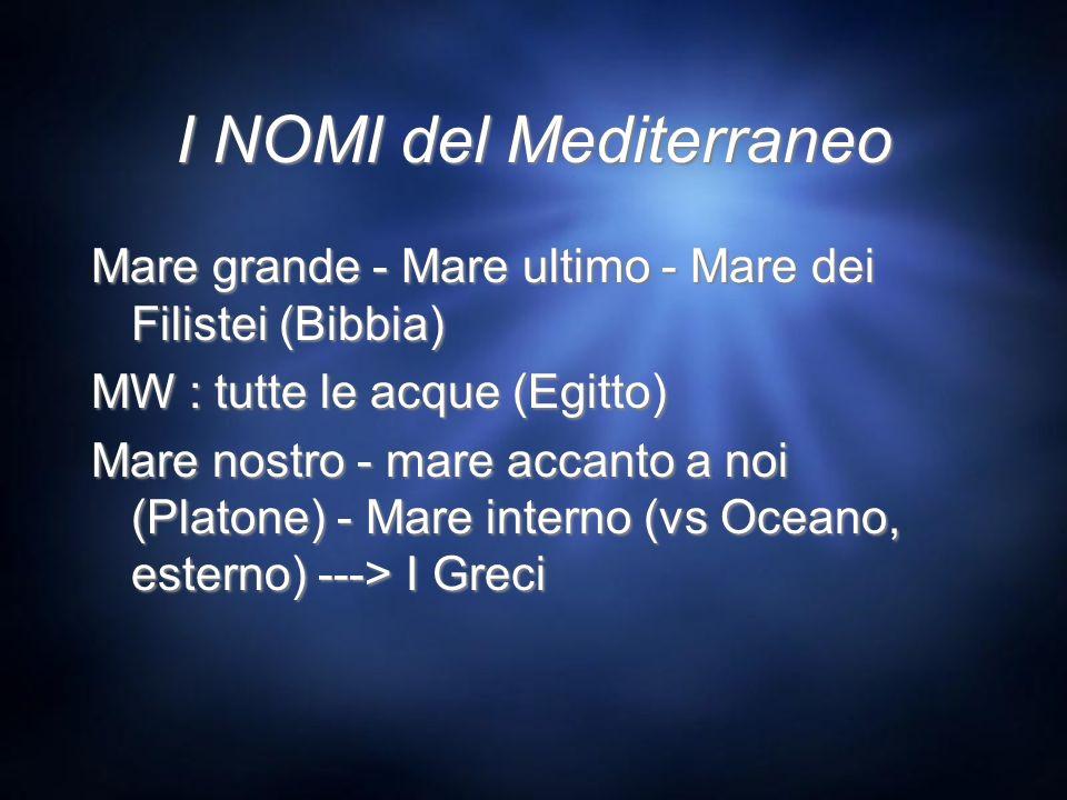I NOMI del Mediterraneo