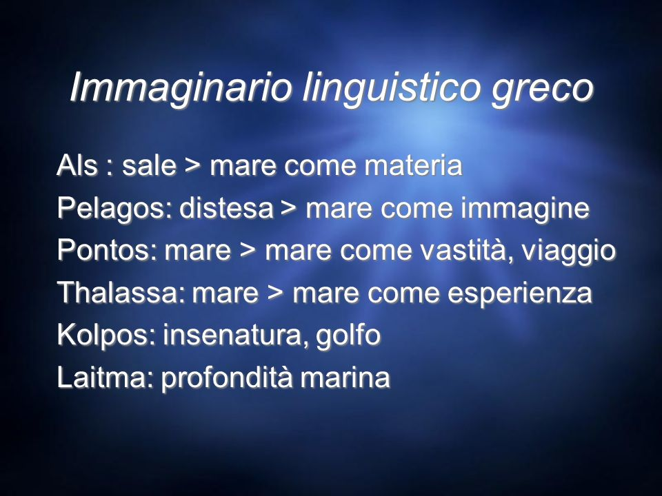 Immaginario linguistico greco