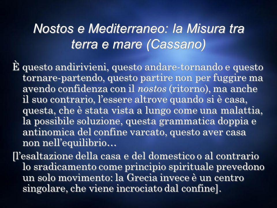 Nostos e Mediterraneo: la Misura tra terra e mare (Cassano)