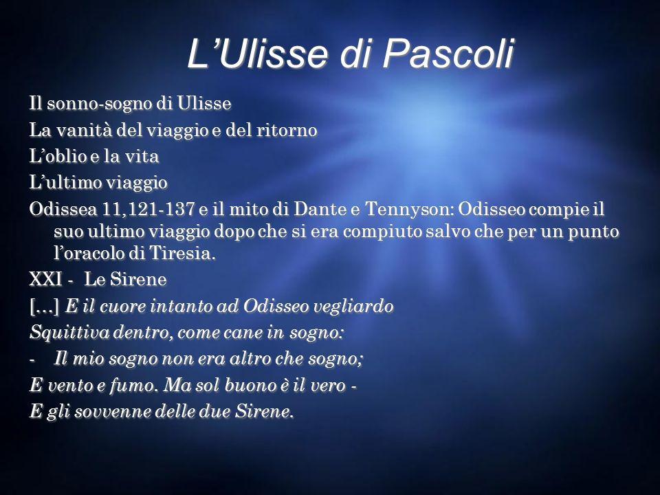 L'Ulisse di Pascoli Il sonno-sogno di Ulisse