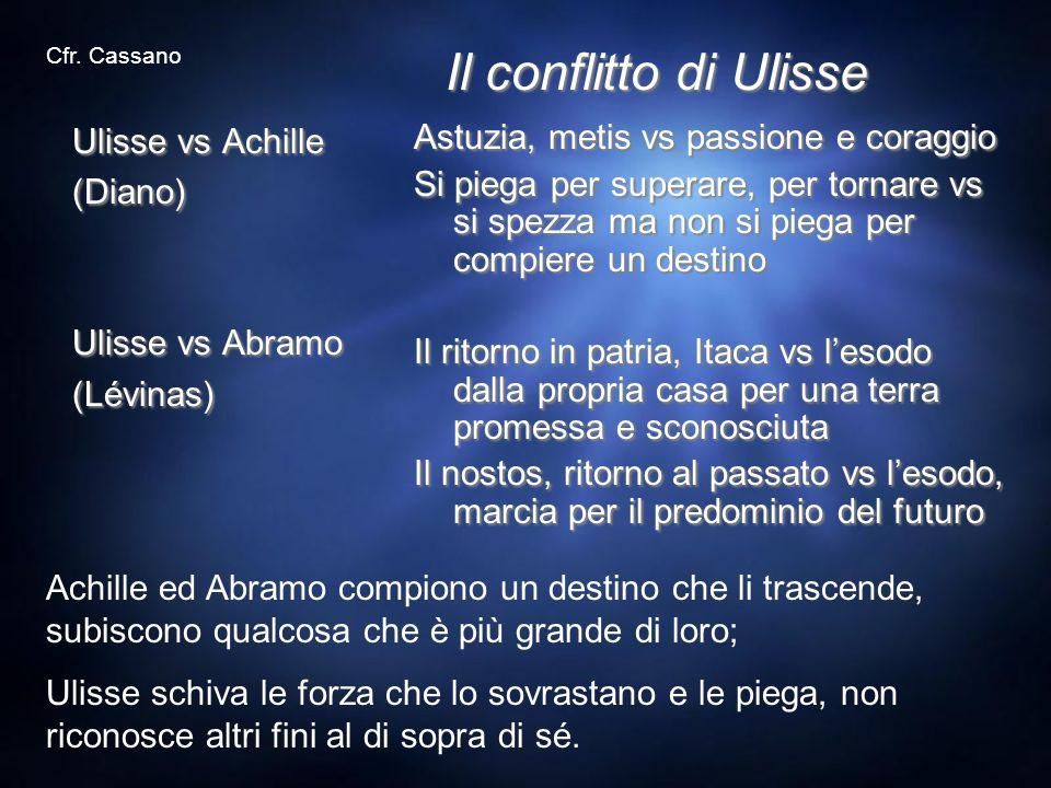 Il conflitto di Ulisse Ulisse vs Achille (Diano) Ulisse vs Abramo