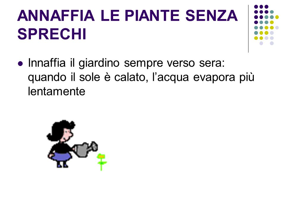 ANNAFFIA LE PIANTE SENZA SPRECHI