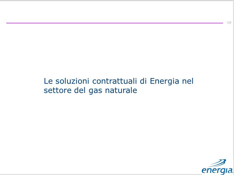 Le soluzioni contrattuali di Energia nel settore del gas naturale