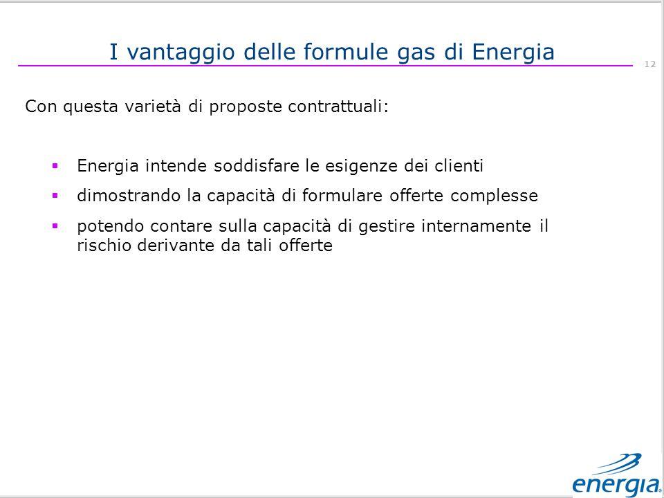 I vantaggio delle formule gas di Energia