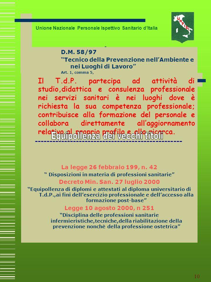 Disposizioni in materia di professioni sanitarie