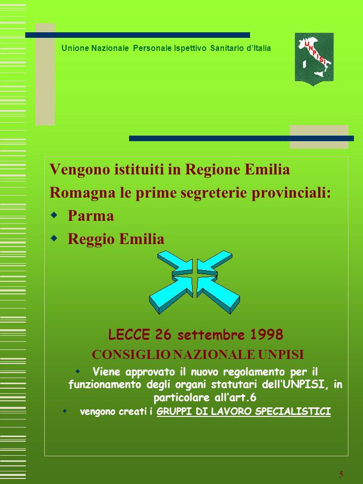 Vengono istituiti in Regione Emilia