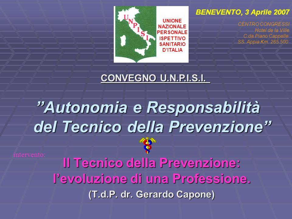 Autonomia e Responsabilità del Tecnico della Prevenzione