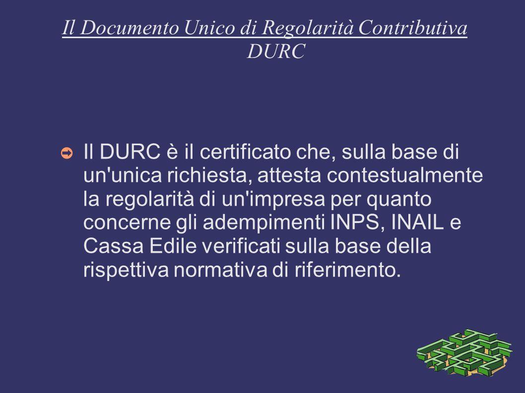 Il Documento Unico di Regolarità Contributiva DURC