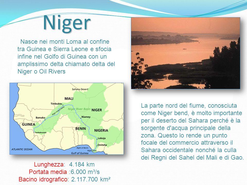 Bacino idrografico: 2.117.700 km²