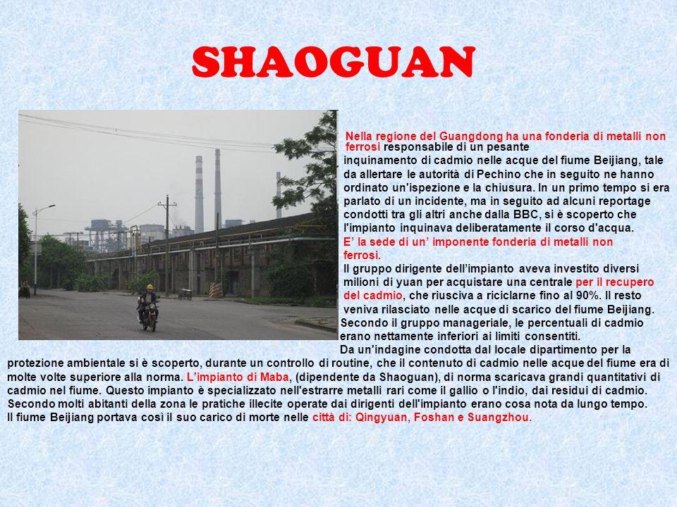 SHAOGUAN Nella regione del Guangdong ha una fonderia di metalli non ferrosi responsabile di un pesante.