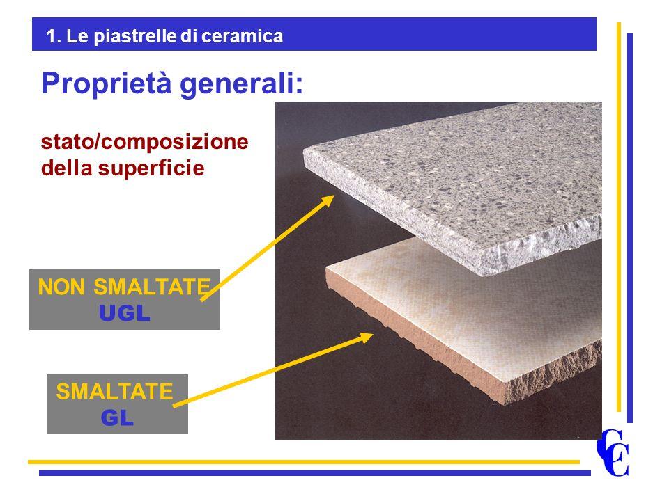 Proprietà generali: stato/composizione della superficie NON SMALTATE
