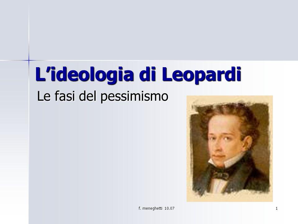 L'ideologia di Leopardi