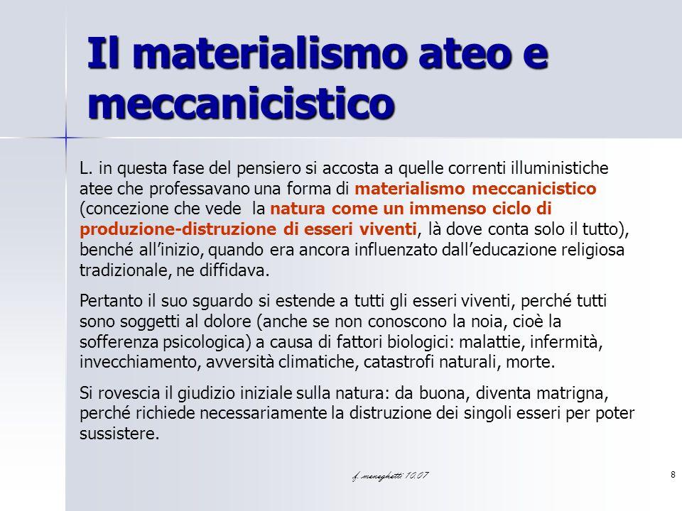 Il materialismo ateo e meccanicistico
