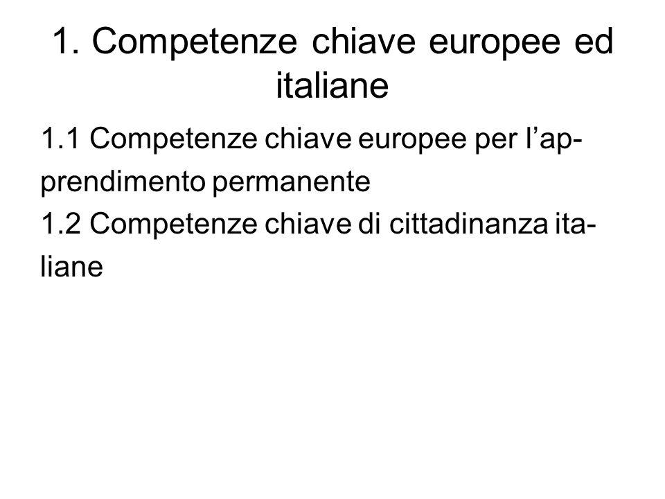 1. Competenze chiave europee ed italiane