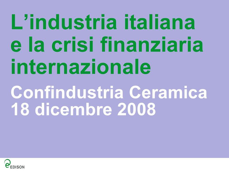L'industria italiana e la crisi finanziaria internazionale