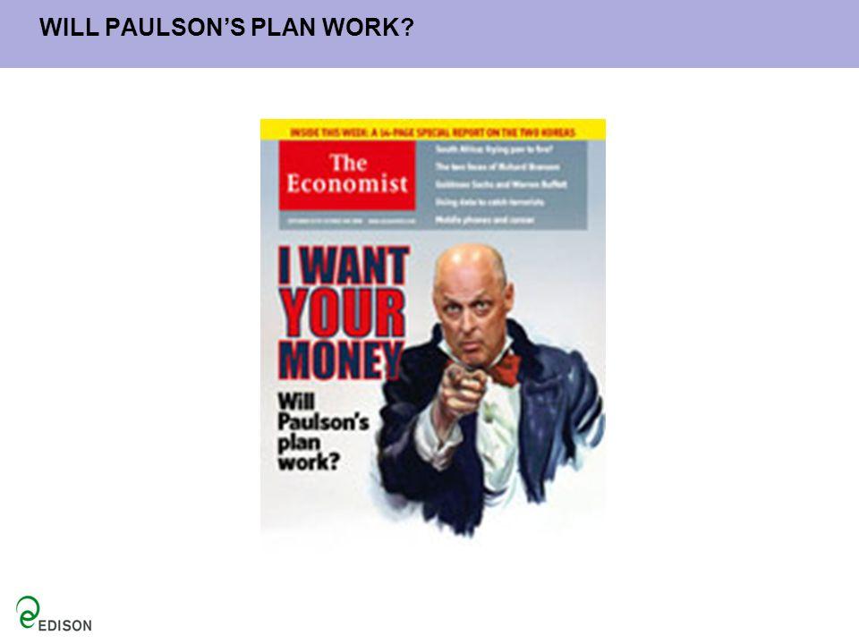 WILL PAULSON'S PLAN WORK