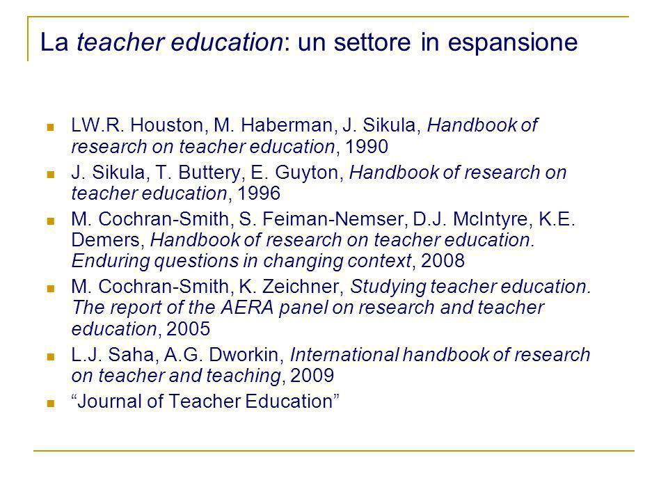 La teacher education: un settore in espansione