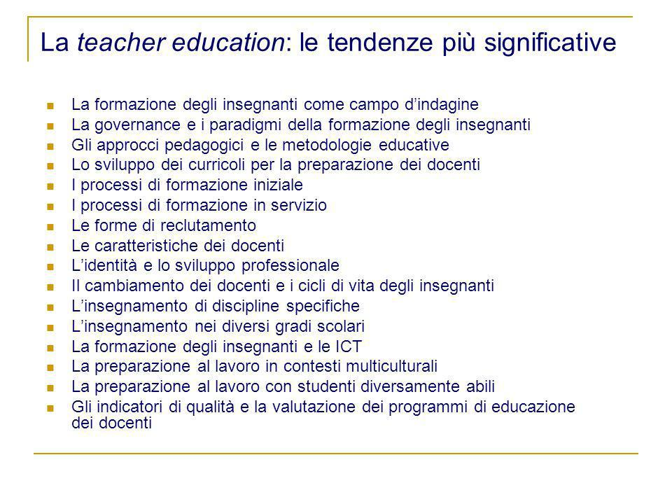 La teacher education: le tendenze più significative