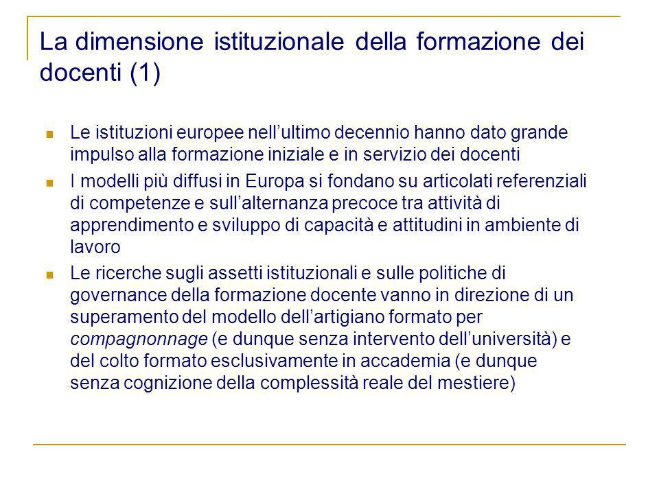La dimensione istituzionale della formazione dei docenti (1)