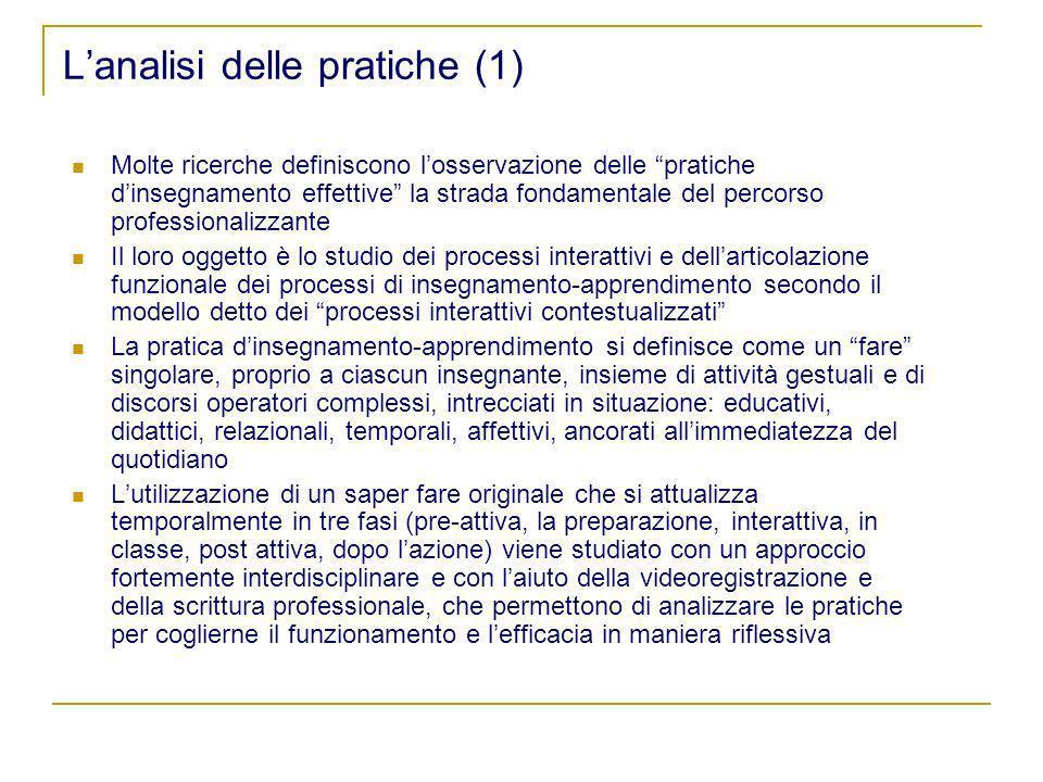 L'analisi delle pratiche (1)