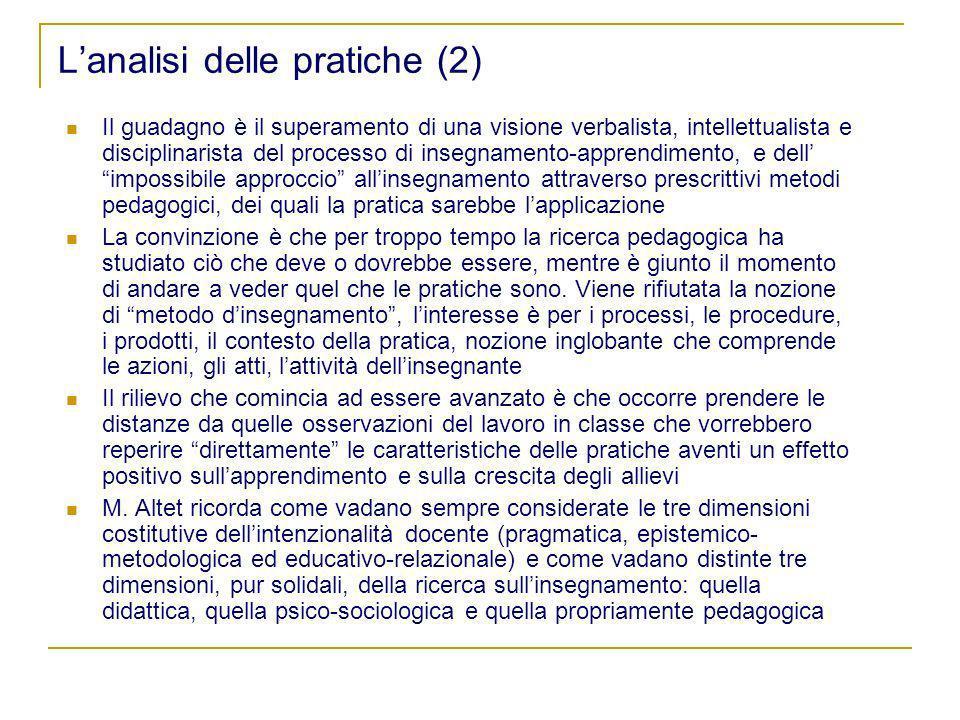 L'analisi delle pratiche (2)
