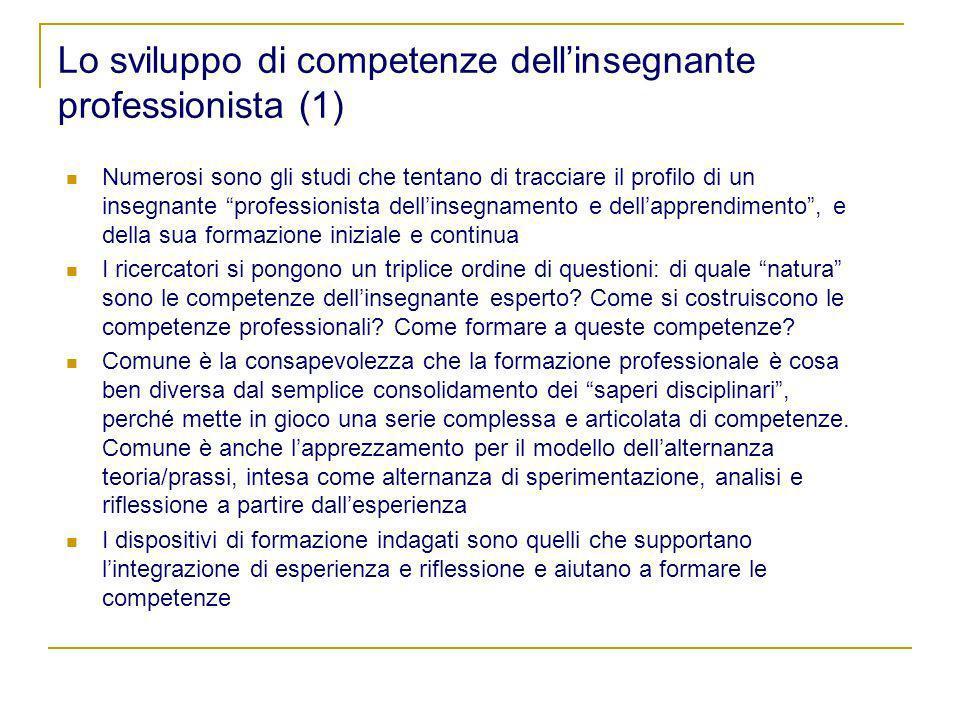 Lo sviluppo di competenze dell'insegnante professionista (1)