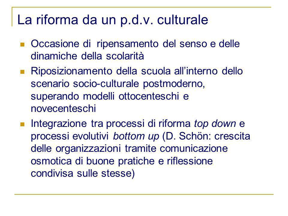 La riforma da un p.d.v. culturale