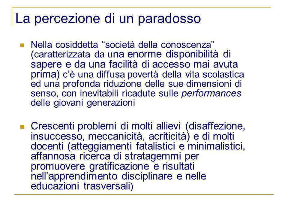 La percezione di un paradosso