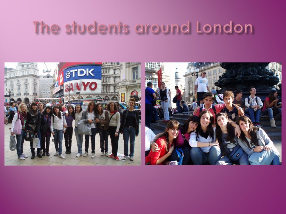 The students around London